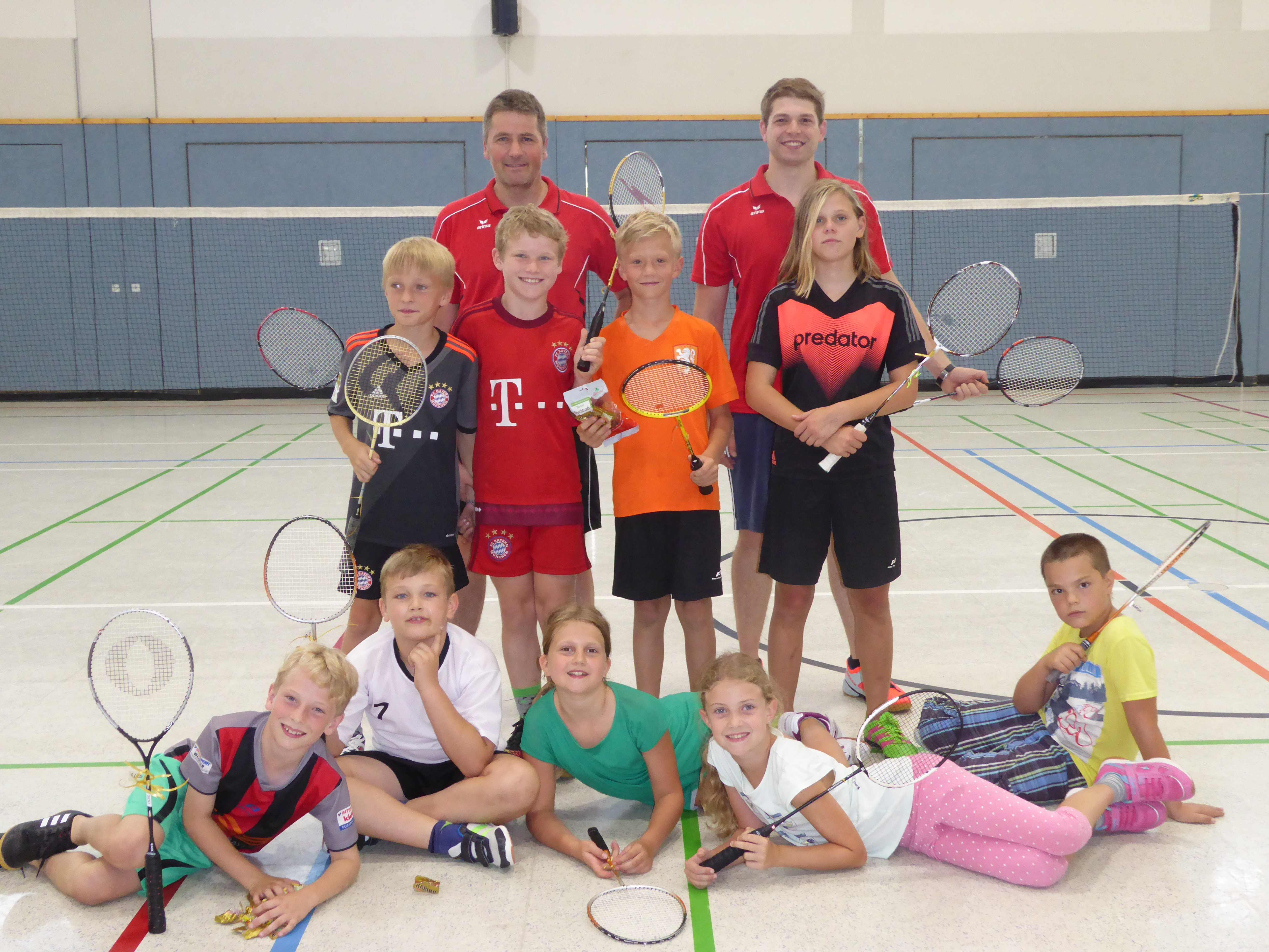 Schuppertraining Badminton 2017
